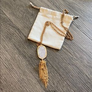 Pearl inspired Kendra Scott necklace